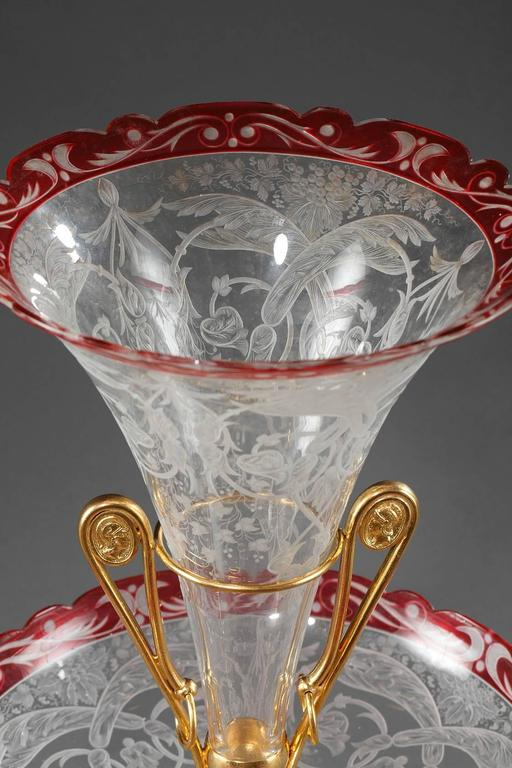 Late 19th Century Crystal and Gilt Bronze Centrepiece For Sale 1