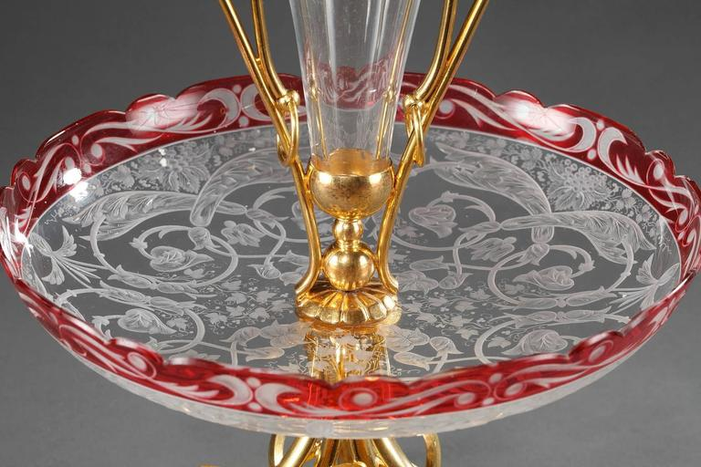 Late 19th Century Crystal and Gilt Bronze Centrepiece For Sale 5