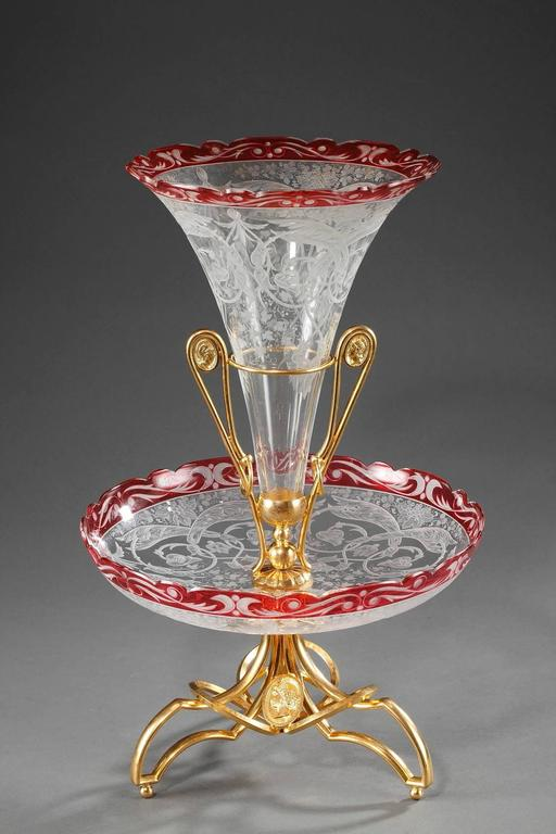 Late 19th Century Crystal and Gilt Bronze Centrepiece For Sale 4