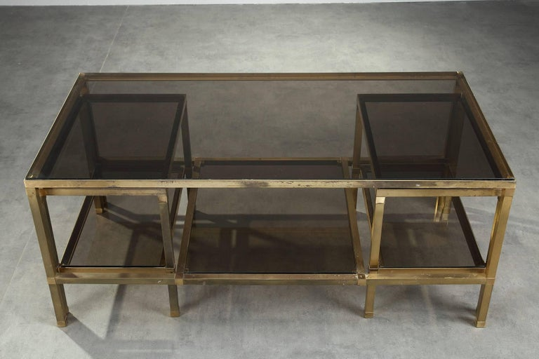1970s Set of Three Nesting Tables Attributed to Maison Jansen For Sale 1