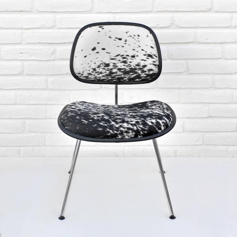 American Charles and Ray Eames for Herman Miller, DCM Cowhide Side Chair For Sale
