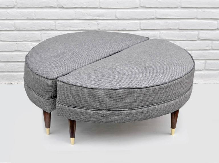 Pair Of Semicircular Ottomans Mexico 1950s At 1stdibs