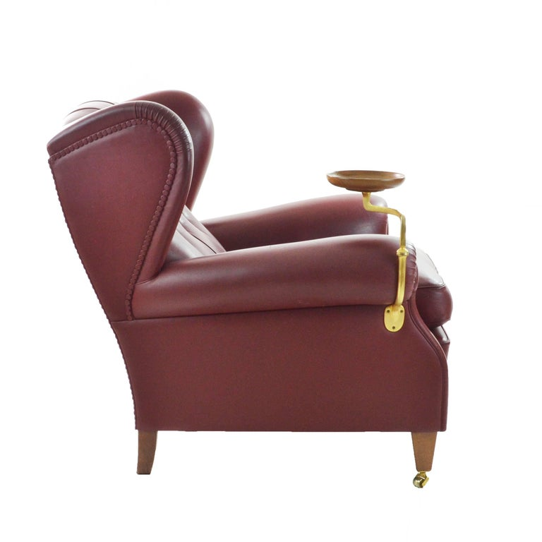 Poltrona Frau Original Armchair Model Nr 1919 with Ashtray and its ...