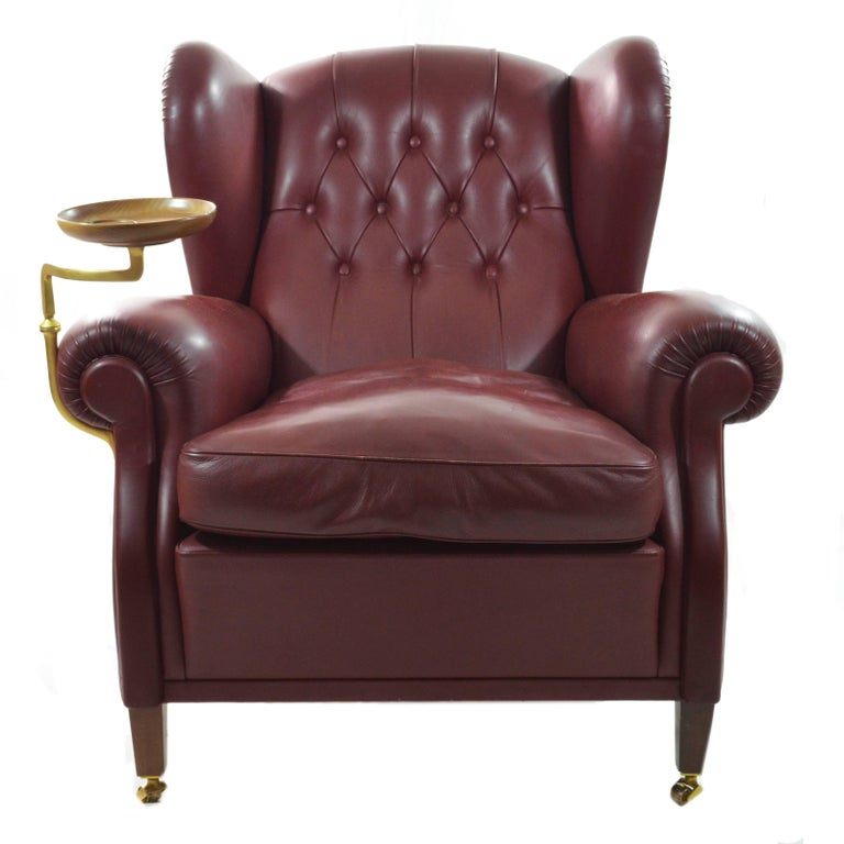 Poltrona frau original armchair model nr 1919 with ashtray for Poltrona frau 1919