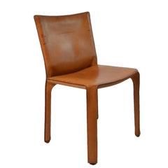 Six Original Cassina Cab 412 Chairs Designed by M. Bellini