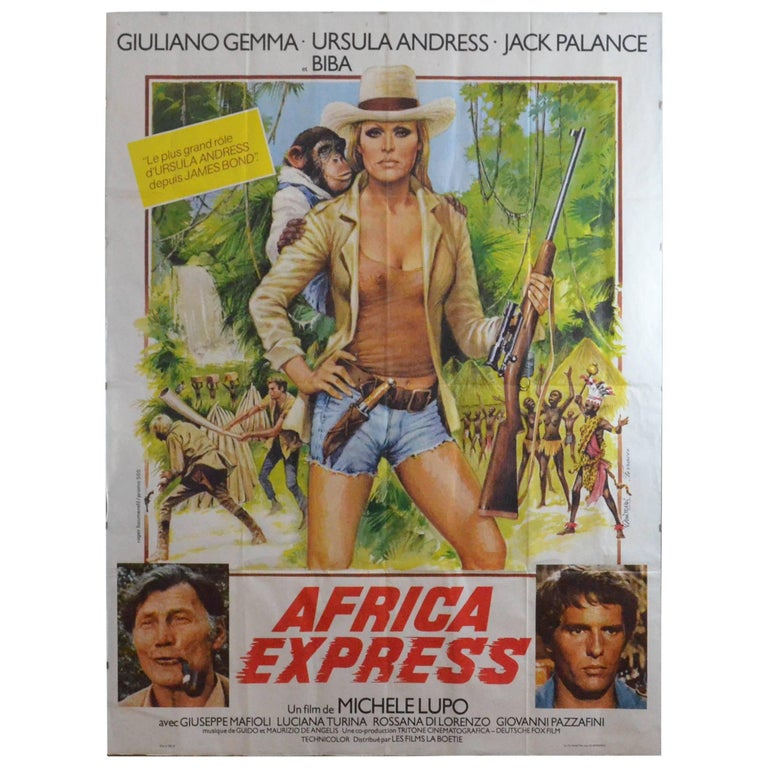Ursula Andress 20th Century Africa Express Movie French Poster