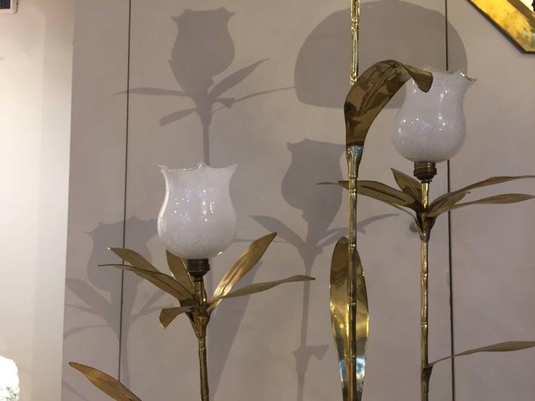 Italian Golden Brass Animal and Floral Floor Lamp for Cittone Oggi, 1960 In Good Condition In Asparetto di Cerea, Verona