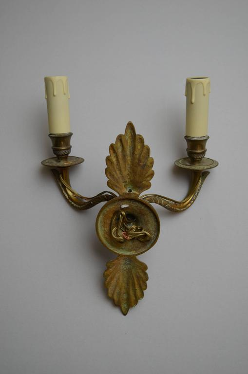 Wall Sconces Small : 19th Century Bronze Small Wall Sconces For Sale at 1stdibs