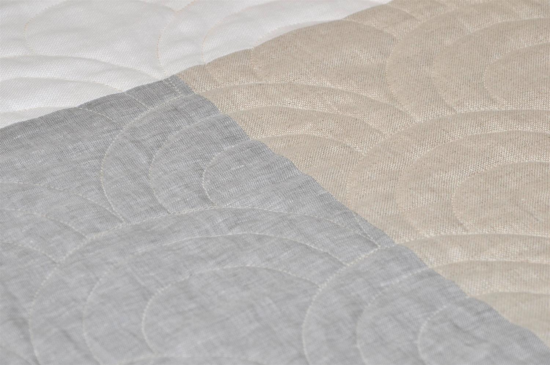 Irish Linen Contemporary Patchwork Modernist Queen Quilt