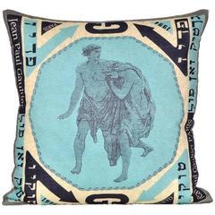 Vintage Jean Paul Gaultier Scarf with Irish Linen Cushion Pillow