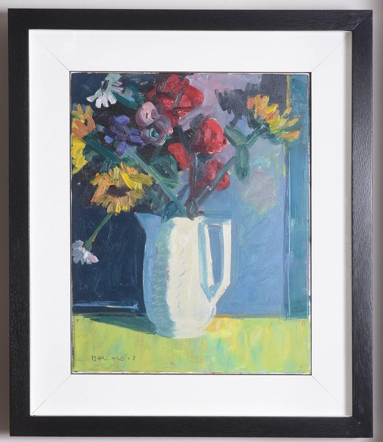 'Still Life, Vase of Flowers' by Brian Ballard In Excellent Condition For Sale In Great Britain, Northern Ireland
