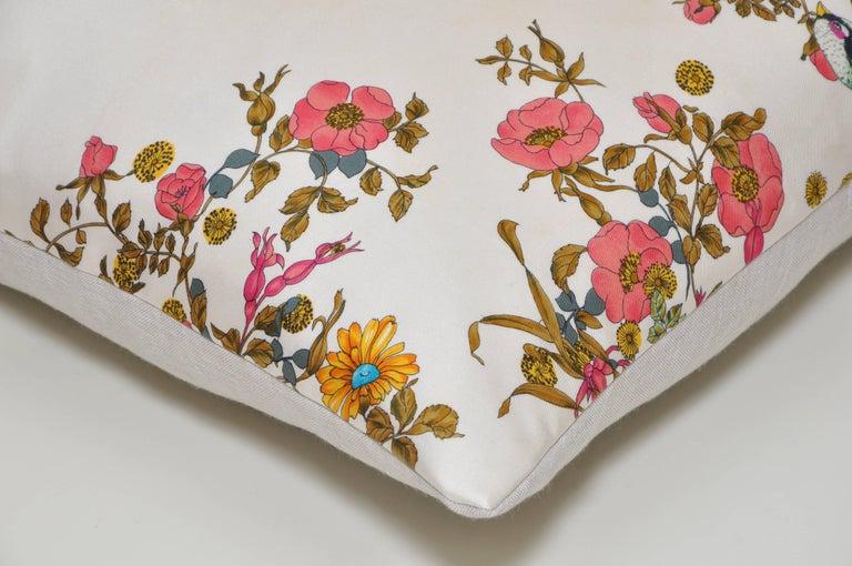 20th Century Rare Vintage Christian Dior Silk Scarf with Irish Linen Cushion Pillow For Sale