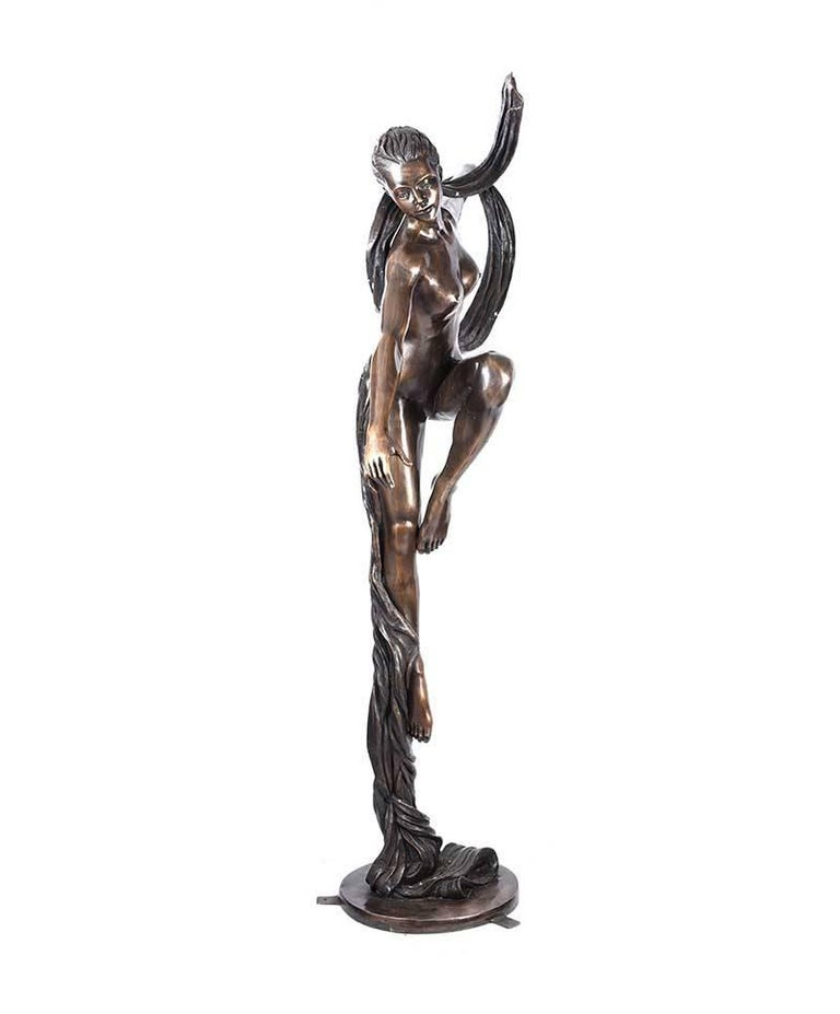 Large 'Essence of Elegance' Art Deco Bronze Garden Sculpture For Sale 2