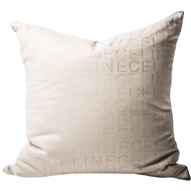 Vintage Celine Fabric with Irish Linen Cushion Pillow