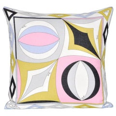 Vintage Pucci Geometric Fabric and Irish Linen Cushion Pillow