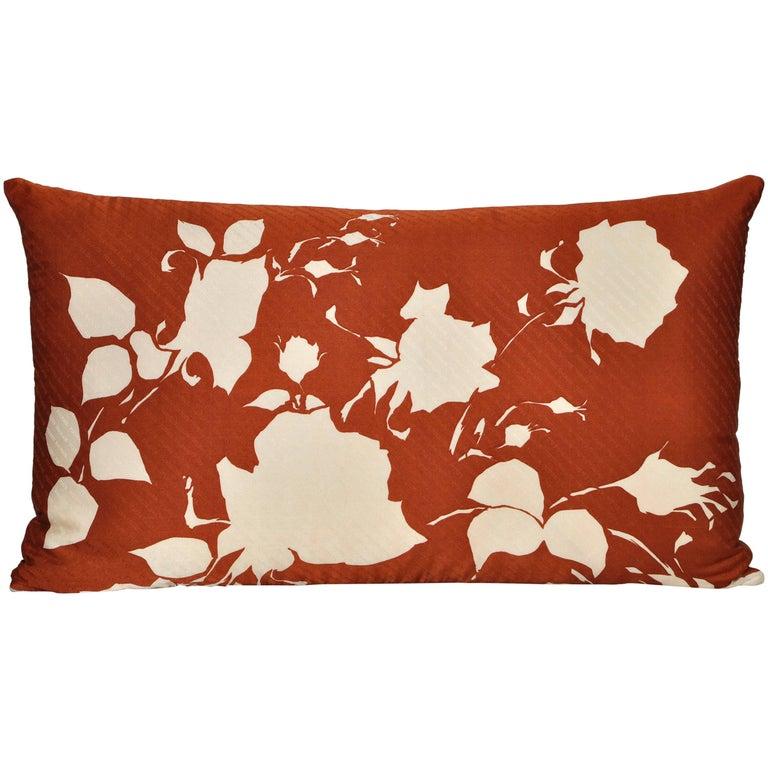 Vintage Pierre Balmain Silk Fabric with Irish Linen Cushion Pillow