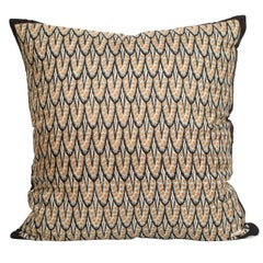 Vintage Liberty of London Art Deco Silk Fabric and Irish Linen Cushion Pillow
