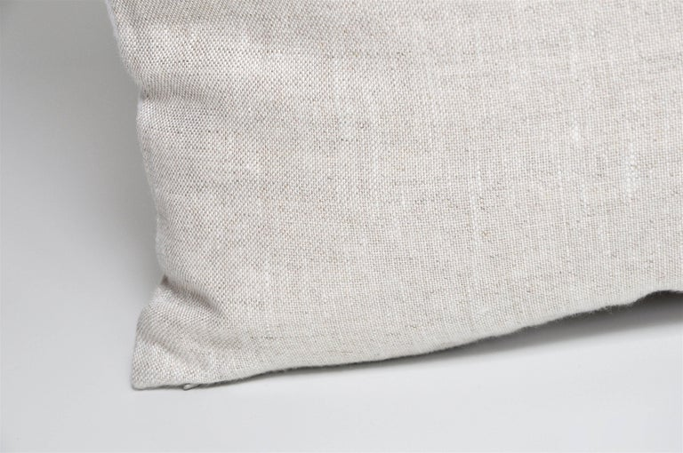 Large Vintage Tiger Blue Salvatore Ferragamo Silk Scarf and Irish Linen Pillow For Sale 2