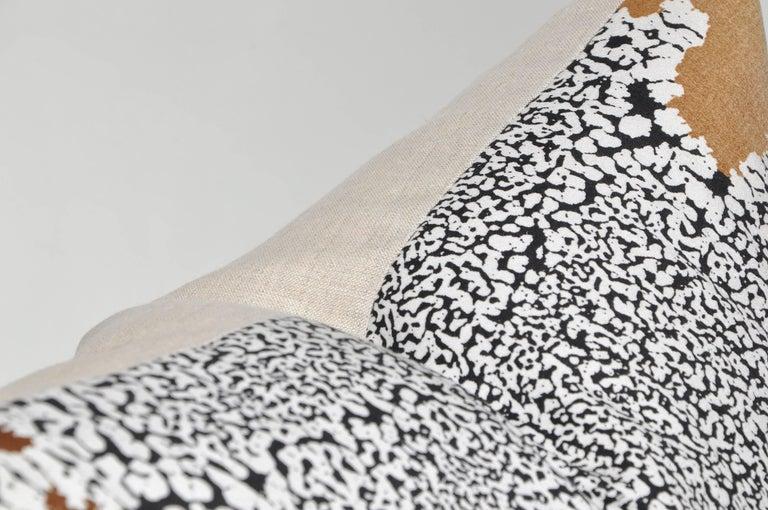 Mid-Century Modern Large Vintage Artist Edmond Bacci Italian Fabric Backed in Irish Linen Pillow For Sale