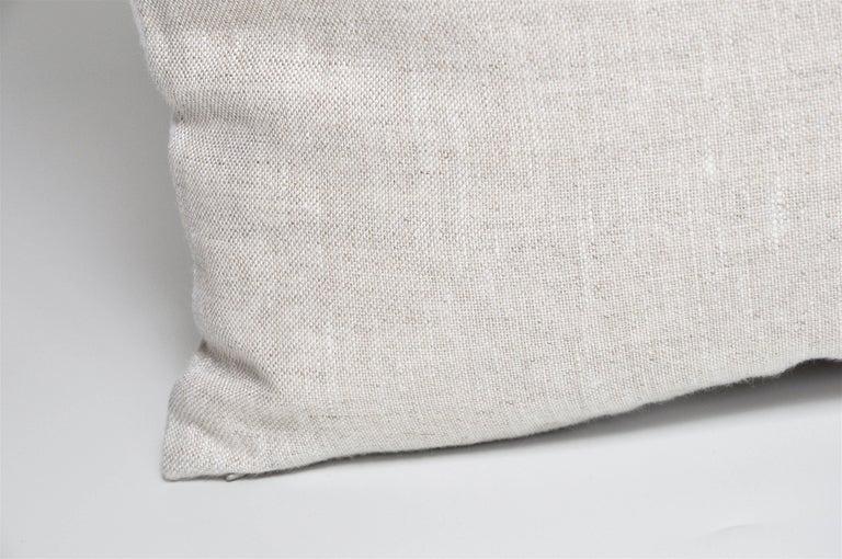 Cotton Large Vintage Artist Edmond Bacci Italian Fabric Backed in Irish Linen Pillow For Sale
