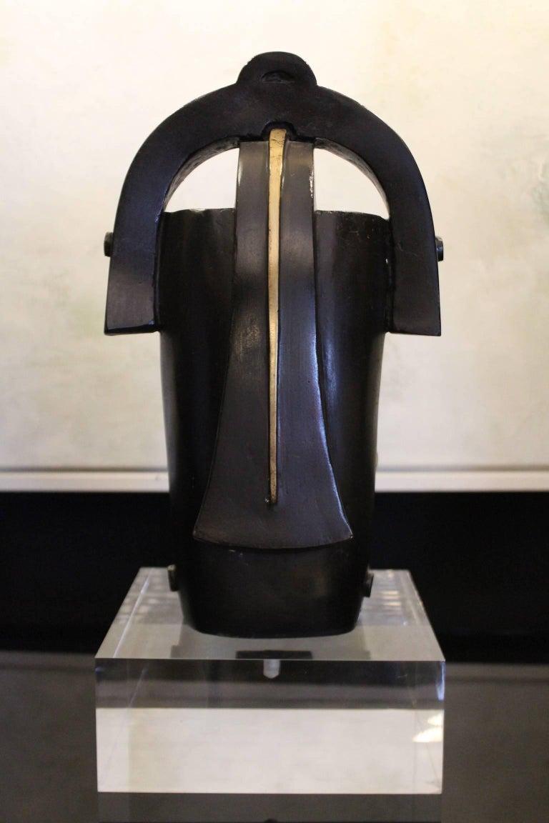 Post-Modern 1970 Bronze Sculpture Ethnic Inspiration