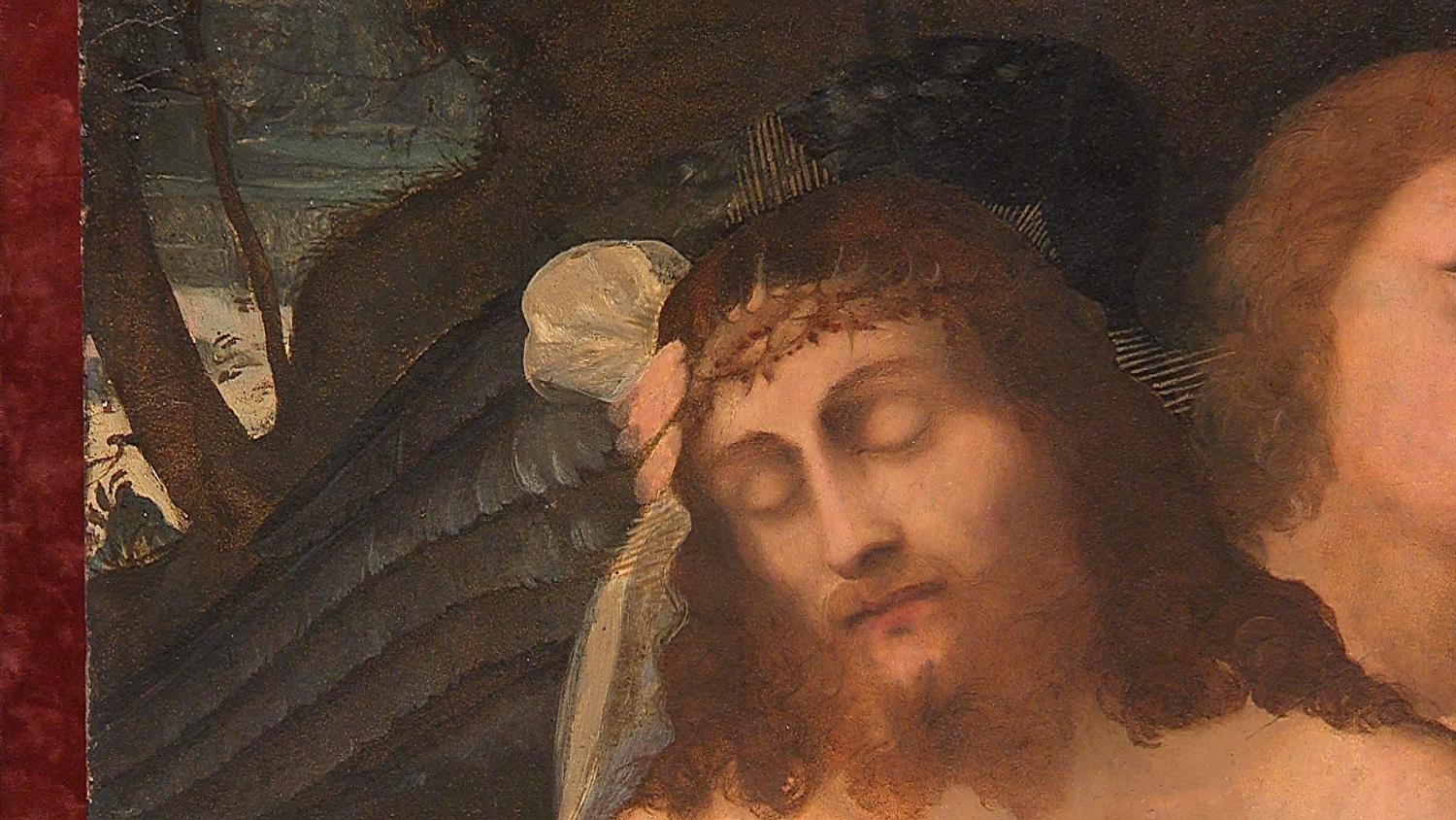 Renaissance painting pieta 39 with angel by palma il for Angel paintings for sale