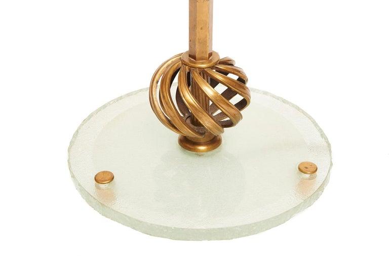 Art Deco Brass Telescopic Floor Lamp For Sale 4
