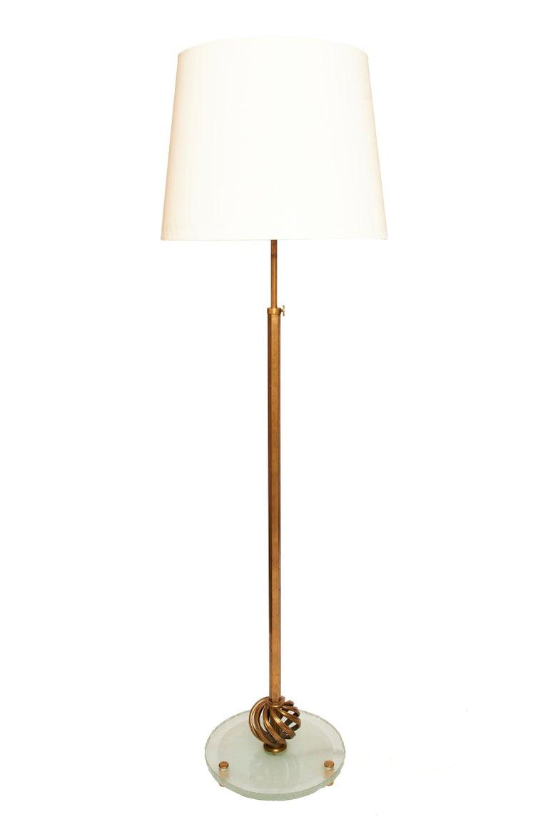 Art Deco Brass Telescopic Floor Lamp For Sale 1
