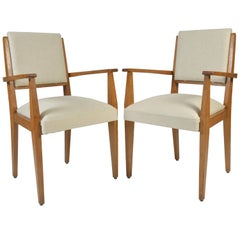 Pair of 1950s Oak Armchairs