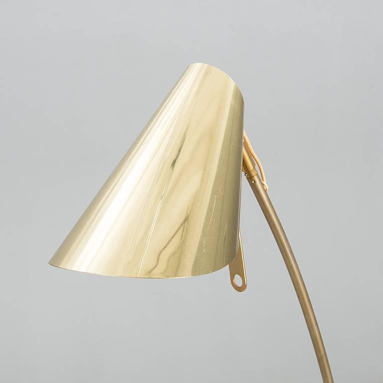 Mid Century Reading Lamp: Mid-20th Century Scandinavian Brass Reading / Floor Lamp