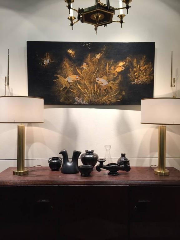 20th Century Superb French Art Deco Lacquer Panel, In The Jean Dunand  Manner For Sale