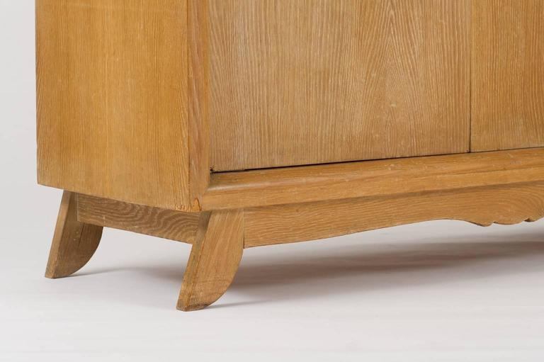 French 1940s Limed Oak Sideboard For Sale 3
