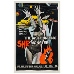 Astounding She Monster American Film Movie Poster, Kallis, 1958 Vintage Original