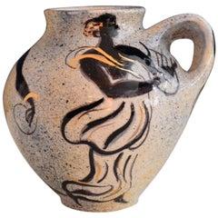 Vallauris Pierre Boncompain Original Artist Ceramic Vase, Signed, 1996