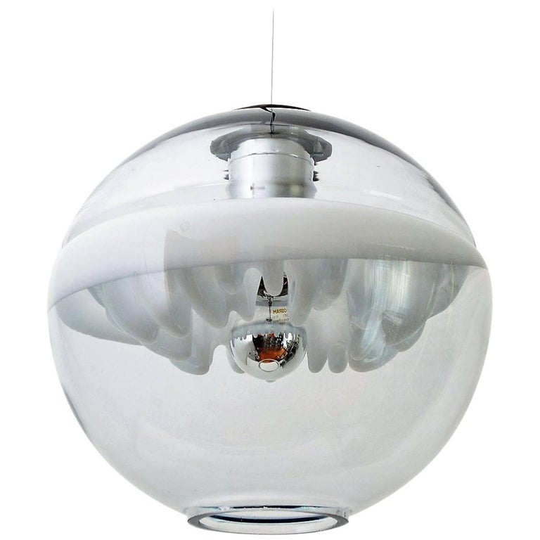 Space Age Pendant Lamp by Toni Zuccheri for Venini, Italy For Sale