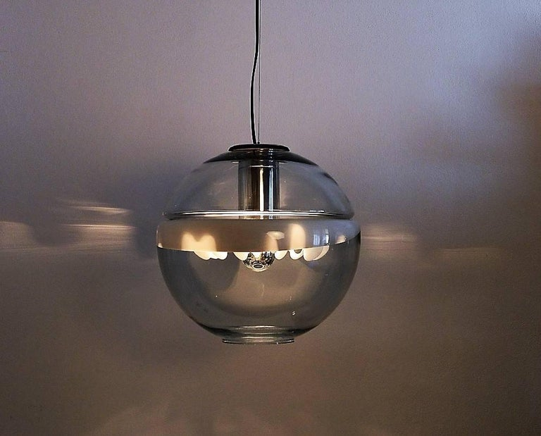 Space Age Pendant Lamp by Toni Zuccheri for Venini, Italy In Good Condition For Sale In Clivio, Varese