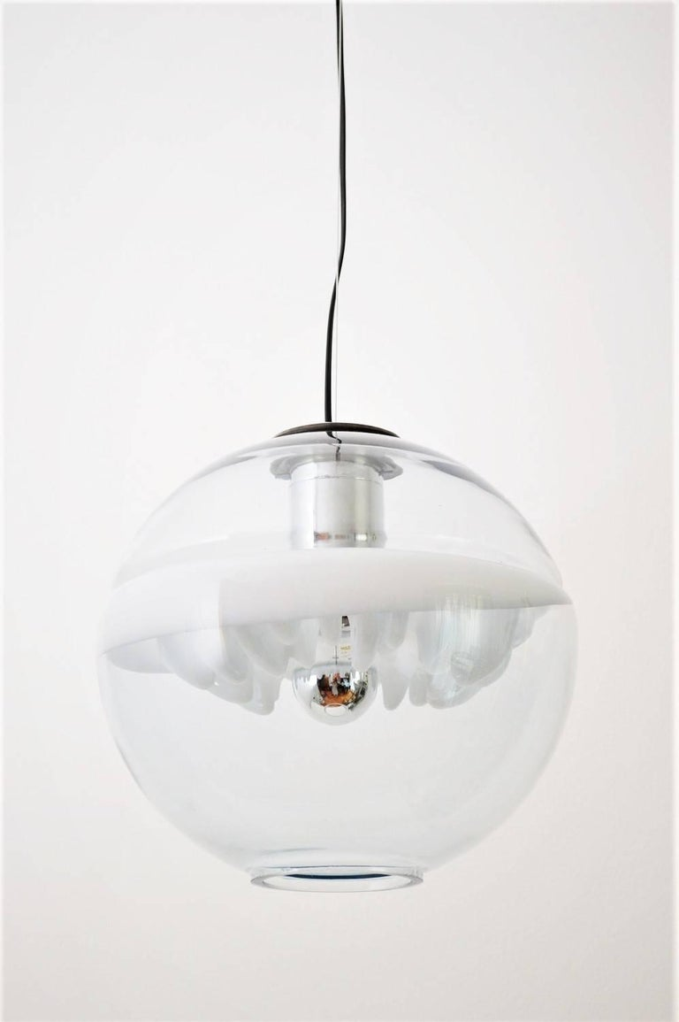 Space Age Pendant Lamp by Toni Zuccheri for Venini, Italy For Sale 3