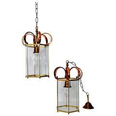 Midcentury Italian Lantern or Pendant Lamp, Set of Two, Italy, 1960