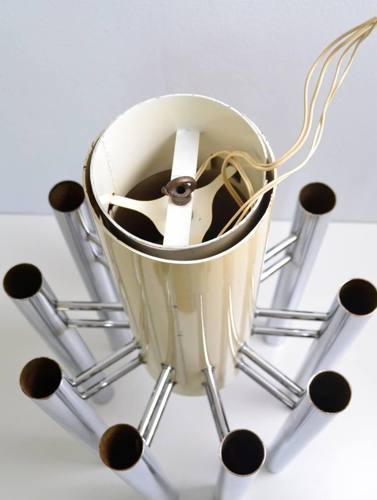 Italian Space Age Chandelier by Angelo Brotto for Esperia, 1970s For Sale 1