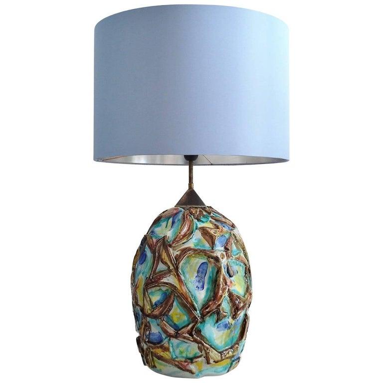 Italian Mid-Century Modern Ceramic Table Lamp, 1960s