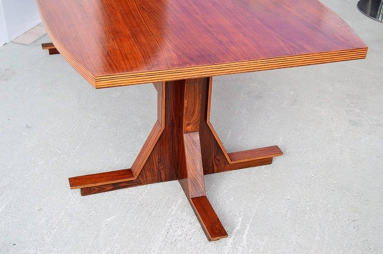 Plywood Italian Midcentury Dining or Conference Table, 1950s For Sale