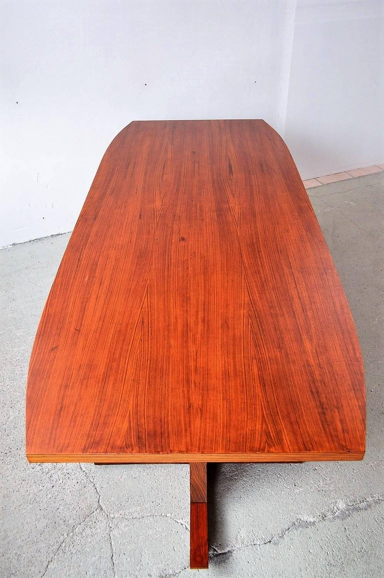 Italian Midcentury Dining or Conference Table, 1950s For Sale 1