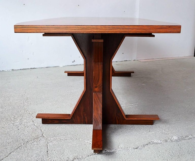 Italian Midcentury Dining or Conference Table, 1950s For Sale 4