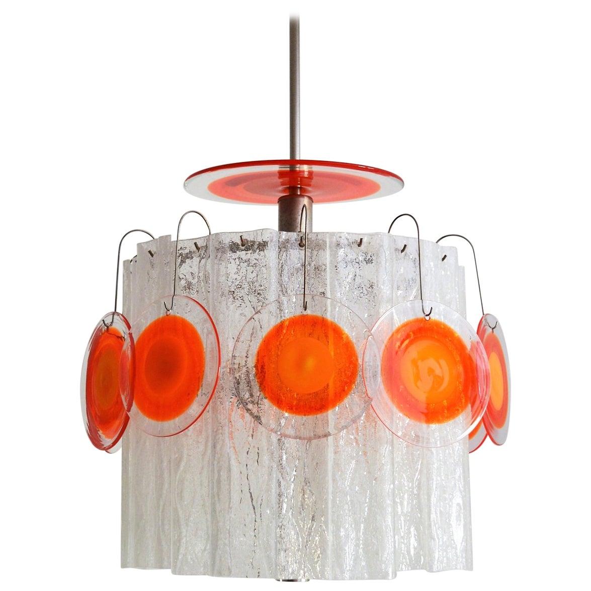 Italian Midcentury Murano Art Glass Chandelier, 1970s