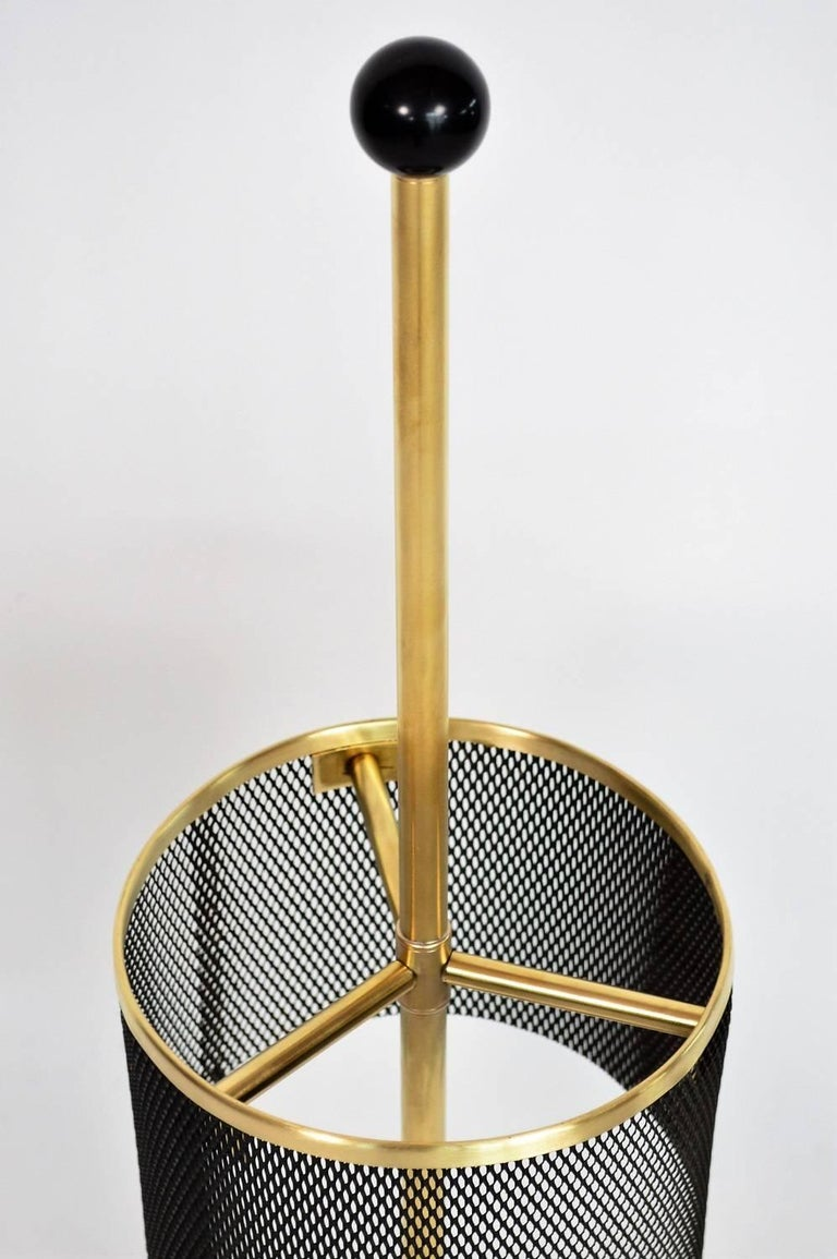 Polished Italian Midcentury Brass Umbrella Stand, 1950s For Sale