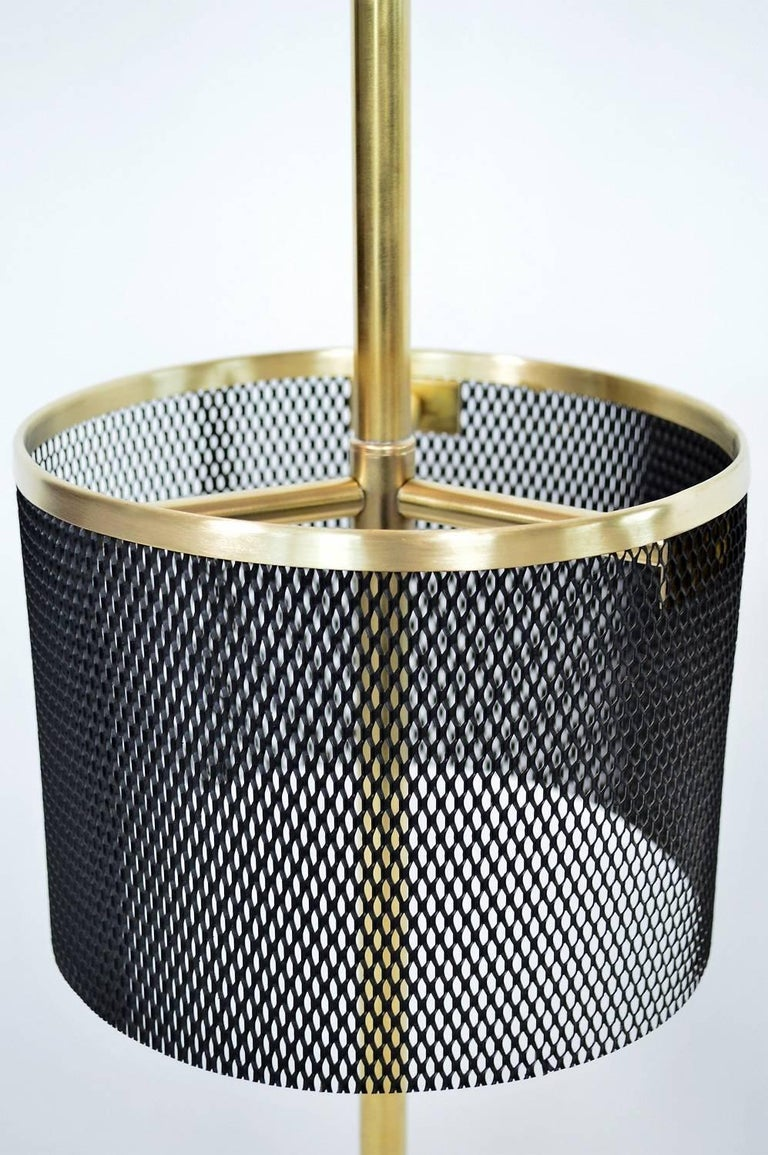Metal Italian Midcentury Brass Umbrella Stand, 1950s For Sale