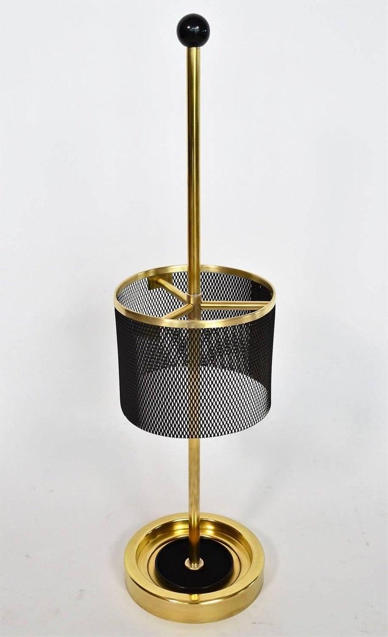 Italian Midcentury Brass Umbrella Stand, 1950s For Sale 3