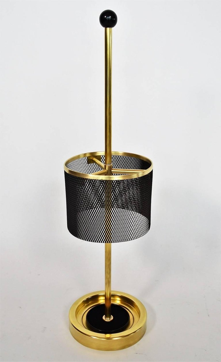Italian Midcentury Brass Umbrella Stand, 1950s For Sale 7