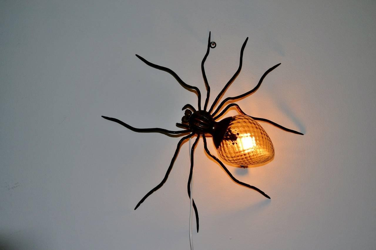 Spider Lamp Wall Sconce Made In Italy 1960s At 1stdibs