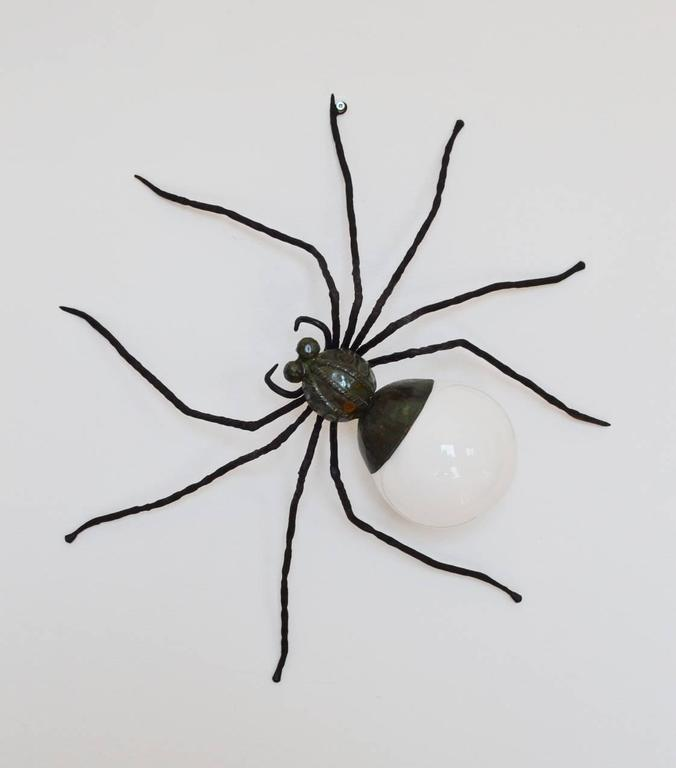 Spider Lamp Wall Sconce Flush Mount Made in Italy, 1960s at 1stdibs